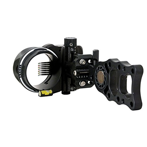 Axcel 7 Pin .019 Fiber Armortech HD Hunting Sight (Black)