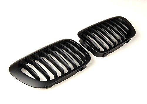 Price comparison product image BMW E46 Matte black Kidney Front Grille Grill Hood (1 Pair)