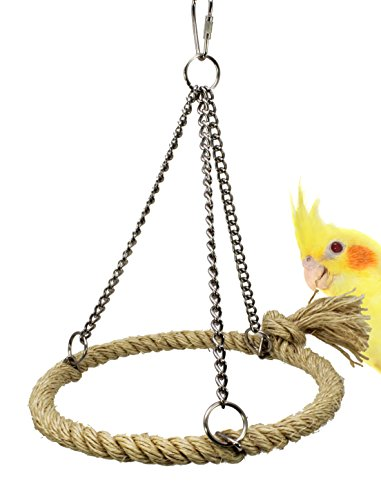 Bonka Bird Toys 1775 Sisal Pyramid Ring Swing natural roost toy toys bird cage cages