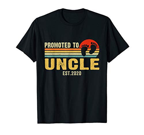 Vintage Promoted To Uncle 2020 Pregnancy Announcement Gifts T-Shirt