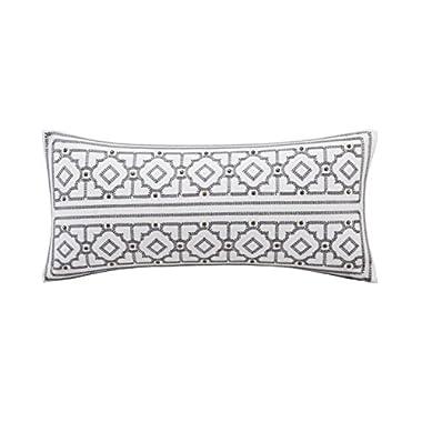 Echo Design Dot Kat Oblong Pillow, 10 x 20 , Cream