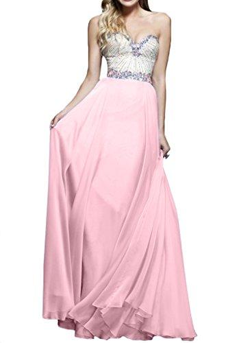 ivyd ressing Mujer Corazón de recorte brillantes a de línea fijo Ropa Prom vestido para vestido de noche Perlerosa