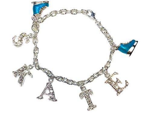 Chloe Noel Crystal Skate Bracelet (Turquoise) - Chloe Sterling Silver Bracelet