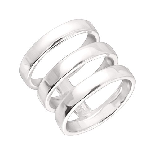 Silpada 'Contemporary Art' Triple-Bar Ring in Sterling Silver 2