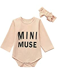 37200e86e616 0-24M Infant Twins Baby Boys Girls Long Sleeve Mini Muse Letter Print Romper  Bodysuit · Winsummer
