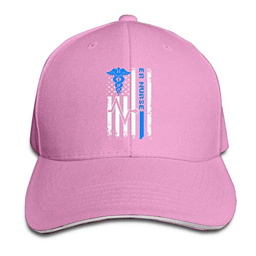 GENZHESI Emergency Room Nurse American Flag Adjustable Baseball Hat Dad Hats Trucker Hat Sandwich Visor Cap