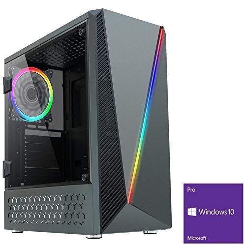 OCHW Bolt RGB Ultra Fast Gaming PC AMD A8 9600 Quad Core 4.20GHz ATI Radeon HD R7 Graphics 8GB DDR4 240GB SSD HDD WiFi…
