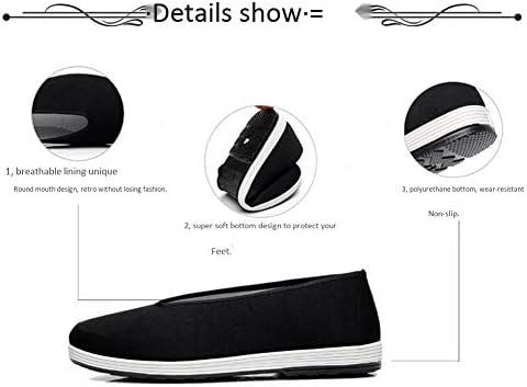 古い北京カンフーの靴中国の伝統的な靴ブルースリー格闘技太極拳テコンドー靴丸い口ゴム底布ユニセックスblack-41