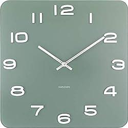 Karlsson Vintage Glass Wall Clock - Jungle Green