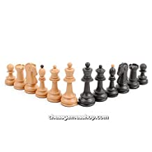 Dubrovnik Plastic (wood imitation) chess pieces - Plastic,, Standard size, Weghted Chessmen