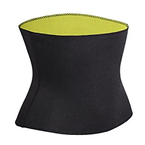 Womens Body Shapers T-shirt Slimming Neoprene Vest Weight Loss Hot Sweat Shirt (L, Black Hot Slim Shaper Belt)