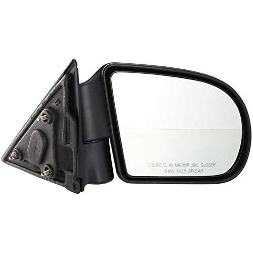 Chevy Chevrolet Blazer Mirror - Kool Vue GM49R Chevy S10 Pickup Passenger Side Mirror, Manual, Below Eyeline Type, Textured Black