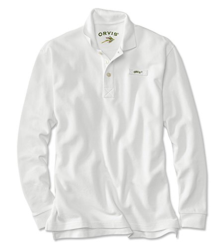 Men's The Long-sleeved Orvis Signature Polo / Tall, White...