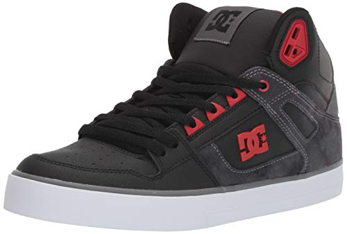 DC Men's Pure HIGH-TOP WC SE Skate Shoe, Black/red, 10.5 M US