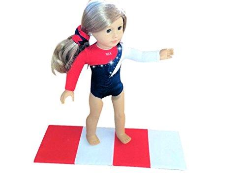 e56b4f344 American Doll USA Olympics Gymnastics Outfit With GYMNASTICS Mat ...