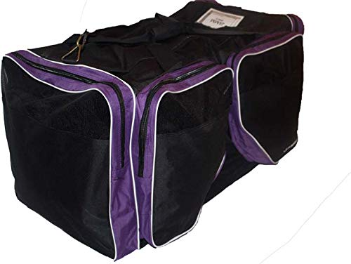 JAMM Senior Vented Black and Purple Hockey Bag with End & Skate Pockets