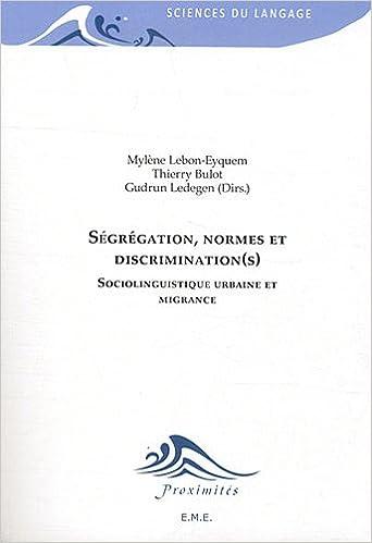 Livre Ségrégation, normes et discrimination(s) pdf