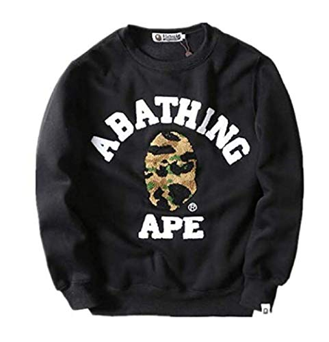 Gayo BAPE Fashion Long Sleeve Crew Neck Sweatshirt Sweater for Men/Women Black
