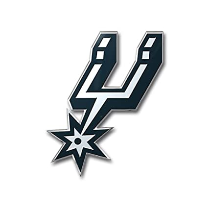 San antonio spurs colored aluminum car auto emblem