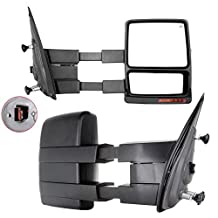 Carrep Tow Towing Mirrors Towing Side Mirror Telescoping Power Heated for 07-14 Ford F150 Pair