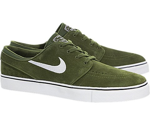 Nike Mens Zoom Stefan Janoski Legion Green/white Black Skate Shoe (13)