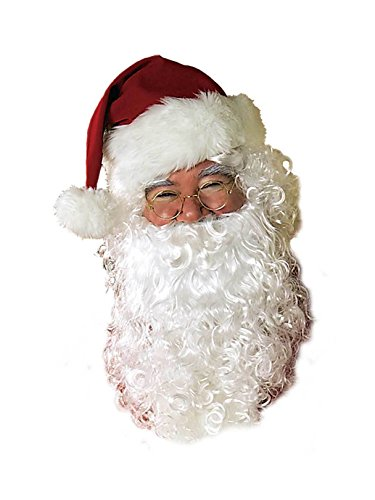 Rubie's Men's Value Santa Beard and Wig Set, White, One -