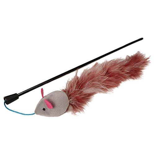 Petlinks Teezer Tail Wand with Feathers and Crinkle Sounds