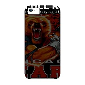 Shockproof Hard Cell-phone Case For Iphone 5c With Provide Private Custom High Resolution Chicago Bears Pattern JonBradica