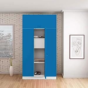 GODREJ INTERIO Slimline 3 Door Steel Almirah Locker, OHU (Deep Blue)