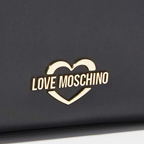 Love Moschino Borsa Matt Nappa Pu, damväska, svart (nero), 29 x 34 x 12 cm (b x h L)