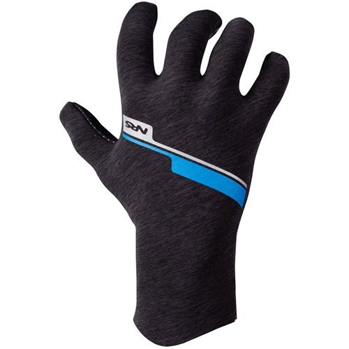 NRS Men's HydroSkin Gloves, Gray Heather, 2016