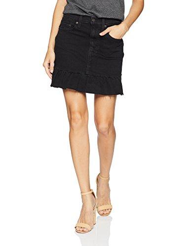 Levi's Women's Ruffle Skirts, Devil's Angel, 26 (US 2) (Denim Skirt Black Mini)