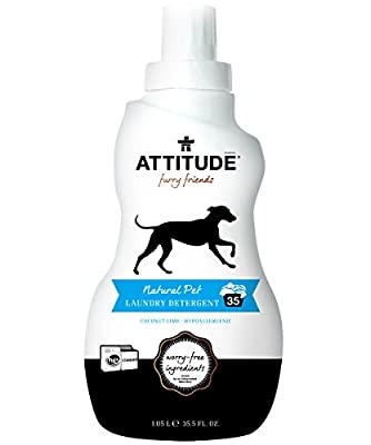 ATTITUDE Natural Pet Laundry Detergent, Coconut Lime, 35.5 Fluid Ounce