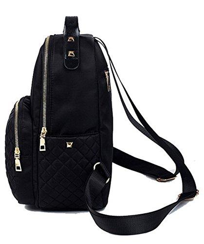 Décontractée à Noir Zippers à dos Femme l VogueZone009 bandoulière Noir CCAFBO181605 Sacs Daypack Sacs 5wIq4nxg