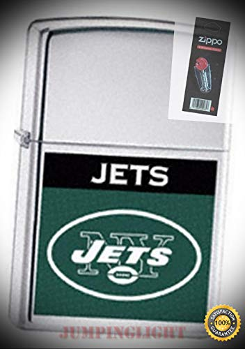 - 22648 NFL York Jets Lighter with Flint Pack - Premium Lighter Fluid (Comes Unfilled) - Made in USA!