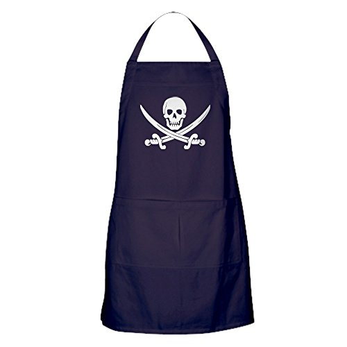 CafePress Calico Jack Pirate Apron (Dark) Kitchen Apron with Pockets, Grilling Apron, Baking -