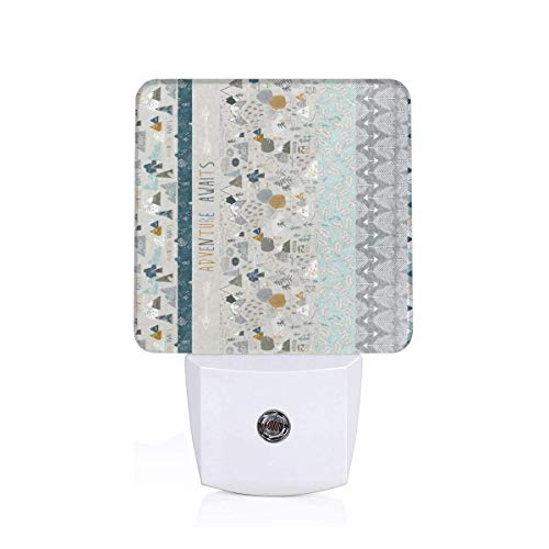 Max's Adventure 1 Yard Quilt Panel A_761 Plug-in LED Night Light Lamp with Light Sensor, Auto On/Off, Energy Efficient ()