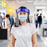 Safety Face Shield 2 Pack, All-Round Protection Cap with Clear Wide Visor Spitting Anti-Fog Lens, Lightweight Transparent Shield with Adjustable Elastic Band for Men Women