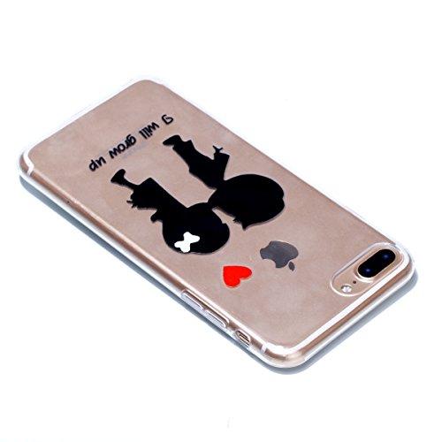 iPhone 7 Plus Custodia , Leiai Moda Soft You will Grow Up Trasparente Silicone Morbido PU Protettivo Antiurto Cover Case Shell Custodia per Apple iPhone 7 Plus