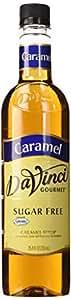 Davinci Gourmet 13349 Davinci Sugar Free Flavor Syrup - 750Ml Plastic Bottle Caramel