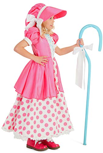 Princess Paradise Polka Dot Bo Peep Costume, Multicolor, -