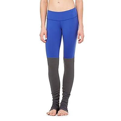 MAYUAN520 Mme Winter Yoga Respirant Sec Pantalons Pantalons Slim Couture Tricot Côtelé Pantalon Taille Pantalon, Remise En Forme De L (Un Peu Plus Grand), Bleu Et Gris