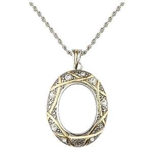 Charmed Life Magnifier Necklace | 5x Zoom Glass Lens | 27.94 mm Diameter | Elegant Design | Adjustable 30 inch Chain | Elixir