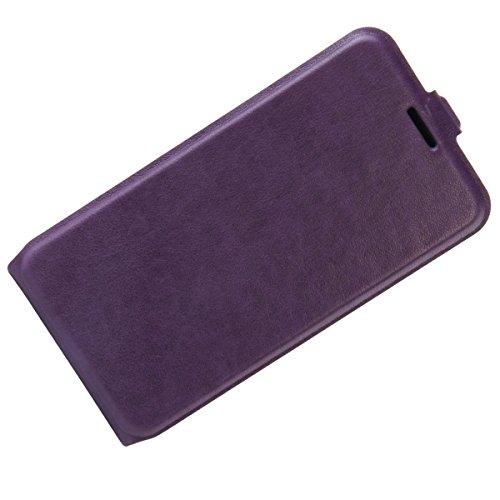 Para Xiaomi Redmi 4 High Edition Caso compacto de piel PU, arriba-abajo piel abierta PU Funda de piel con ranura para tarjeta y función de protección completa con cierre magnético Caja a prueba de gol Púrpura