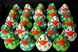24 Mini Irish St. Patrick's Day Rubber Duckys