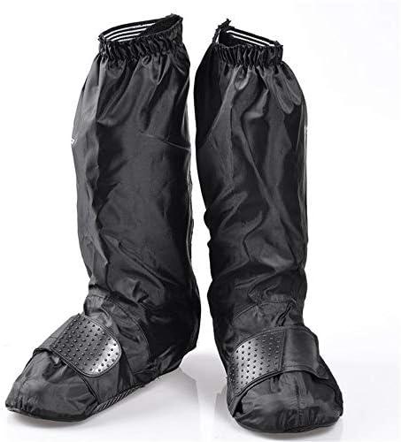 サイクリングシューズカバー ライディングプロテクションレインブーツは、厚い耐摩耗性の自転車ライダーの靴カバーを設定します (色 : ブラック, サイズ : L)