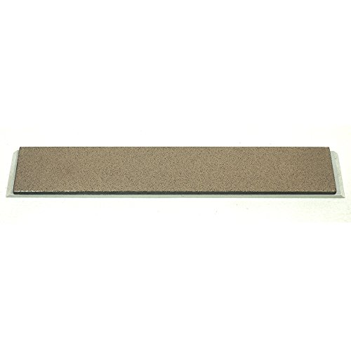 """Metallic Bonded CBN 6"""" x 1"""" x 0.125"""" Sharpening Stone with Aluminum Mounting for Edge Pro 120 grit"""