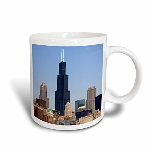 3dRose Willis and Sears Tower/Chicago River/IL US14 DFR0095 David R. Frazier Ceramic Mug, - In Chicago Il Outlets