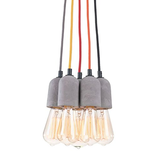 Zuo 50207 Faith Ceiling Lamp, Gray