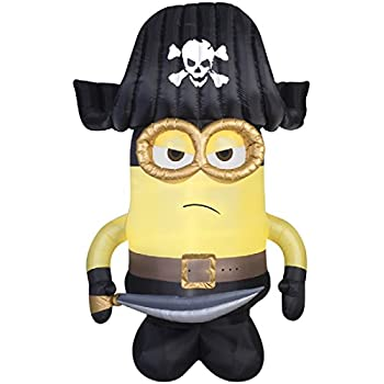 Amazon.com: HALLOWEEN INFLATABLE 9 MINION PIRATE GEMMY